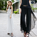 Summer women's national trend skorts culottes chiffon loose pants thin trousers casual pants female trousers