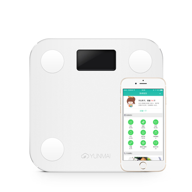 Original yunmai mini inteligente peso escala de gordura corporal escala de saúde suporte android4.3/ios7.0 bluetooth 4.0 pk xiaomi balança digital