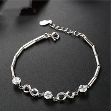 Everoyal Top Quality 925 Sterling Silver Bracelets For Women Jewelry Charm Zircon Round Accessories Girls Bijou