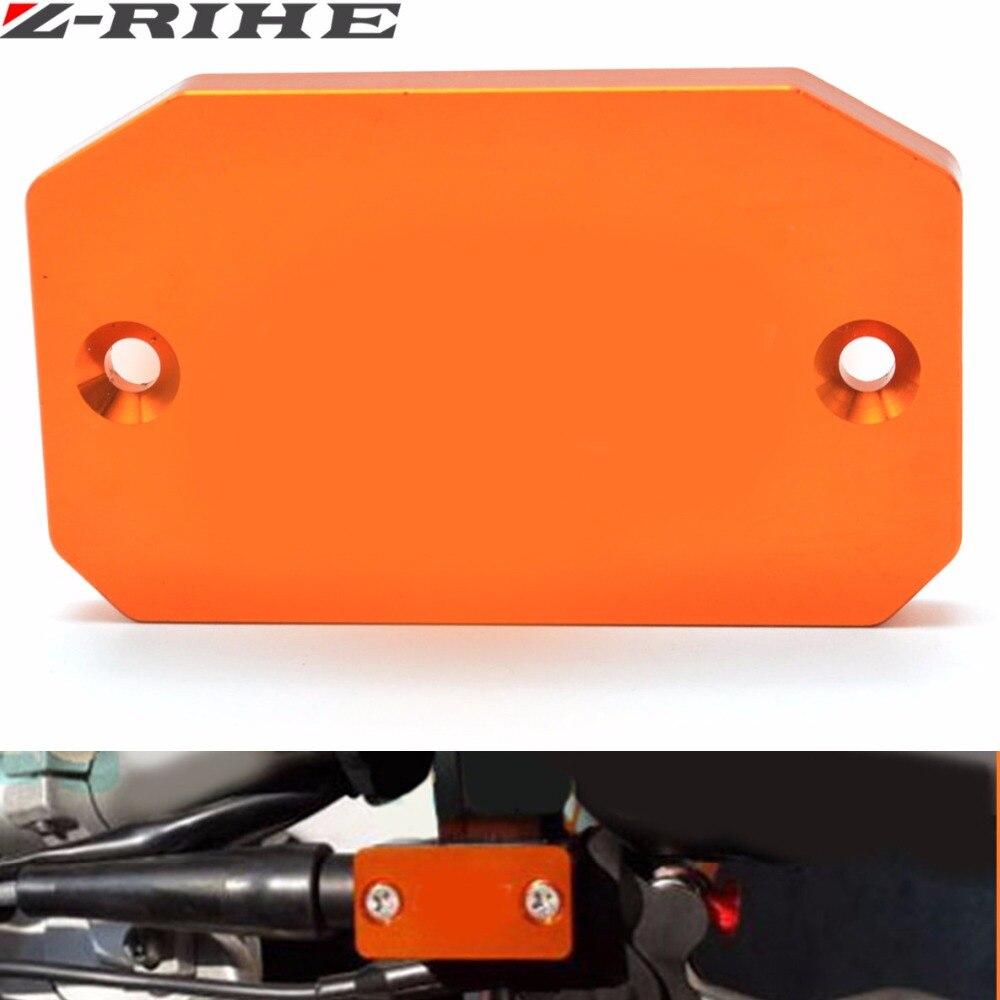 Laranja motocicleta frente bomba de freio reservatório fluido tampa modificado peças para ktm 640 adv 2004-2007 690 enduro 950/990 adv 690