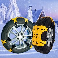 3PCS TPU Snow Chains Universal Car Suit Tyre Winter Roadway Safety Tire Chains Snow Climbing Mud Ground Anti Slip