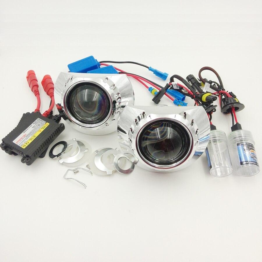 LHD/RHD 2.5 pouces HID bi-xénon lentille projecteur kit de phare pour BMW 3 série E46 + xénon HID kit complet H1 voiture style