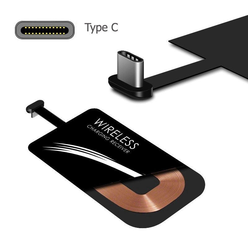 Car-Charger-Receiver Type-C-Card-Adapter Mobile-Phone-Charger Qi Huawei Universal Wireless