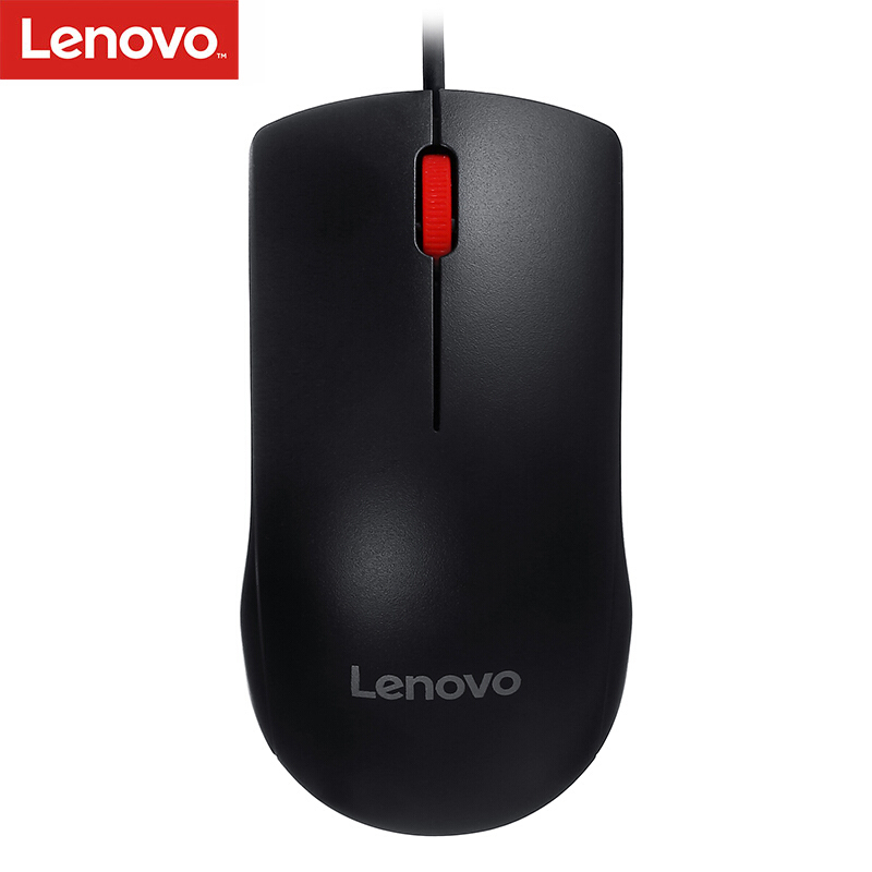 Original Lenovo Mouse M120Pro Wired Optical Mouse With 1000DPI Red Rubber Roller For Home Office Using For Desktop Laptop PC