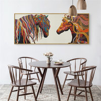 5D DIY Diamond Painting CrossStitch Abstract Modern Horse Pattern Embroidery Decorative Handmade Needlework Kit For Wall