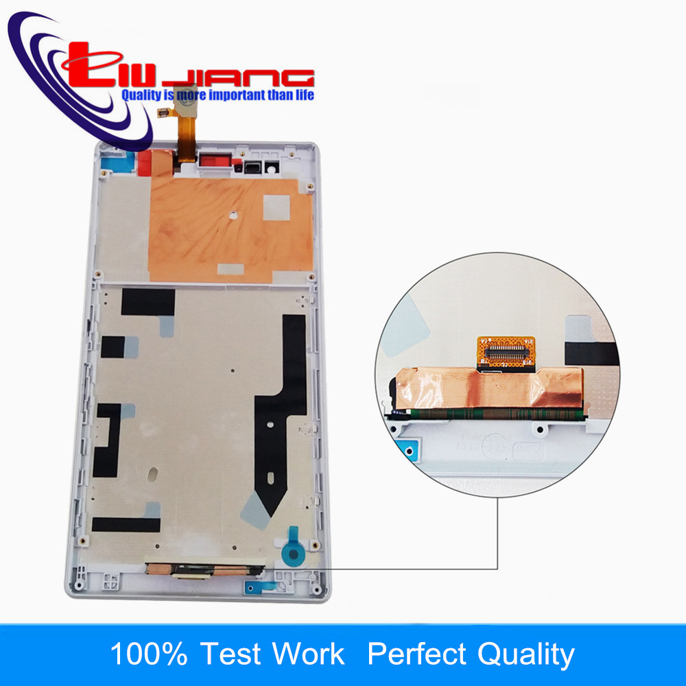 Liujiang 6.0'' Display For Sony T2 Ultra D5322 D5303 D5306 XM50h LCD Display Touch Screen Digitizer with Frame Replacement