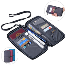 Naturehike Family Passport Holder Wallet with Zipper, Waterproof Passport Travel Wallet with Neck Strap