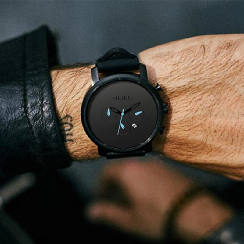 2018 NEW Hip hop Large Dial Military Quartz Men Watch Leather Sport Calendar watches Clock Wristwatch Relogio Masculino JC-11