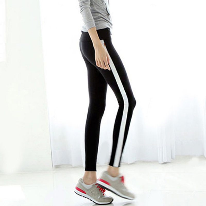 Online Buy Wholesale black and white striped leggings from China ...
