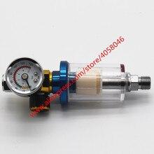 1 stks Scratch Spuitpistool Air Regulator Gauge & In lijn Water Trap Filter Tool spuitpistool gewijd druk regulator tafel