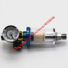 1pcs Scratch Spray Gun Air Regulator Gauge & In line Water Trap Filter Tool  Spray gun dedicated pressure regulator table