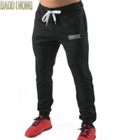 2018 New Mens Sweatpants Gyms Fitness Bodybuilding Joggers Workout Crossfit Trousers Male Casual Cotton Drawstring Pencil