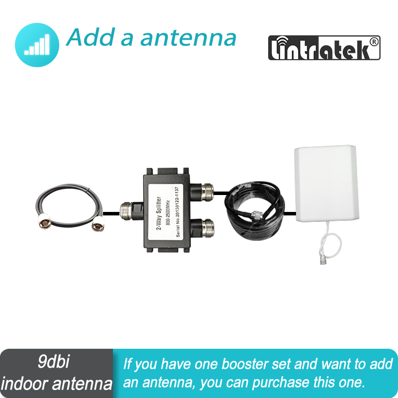 Add One Antenna To Booster Set 700mhz - 2700mhz For GSM WCDMA DCS LTE PCS AWS Mobile Phone Signal Booster Repeater Amplifier#20