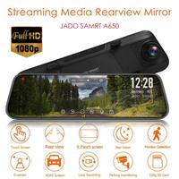 JADO A650 Car DVR FHD 2MP 1080p 9.35Inch IPS Touch Screen Dash Cam Dual Len Rearview Mirror Auto ADAS G sensor Video Recorder
