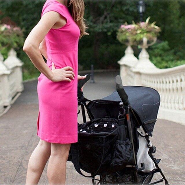 2PCS New Baby Pram Stroller Handle Neoprene Magic Tape Bumper Bar Cover Black