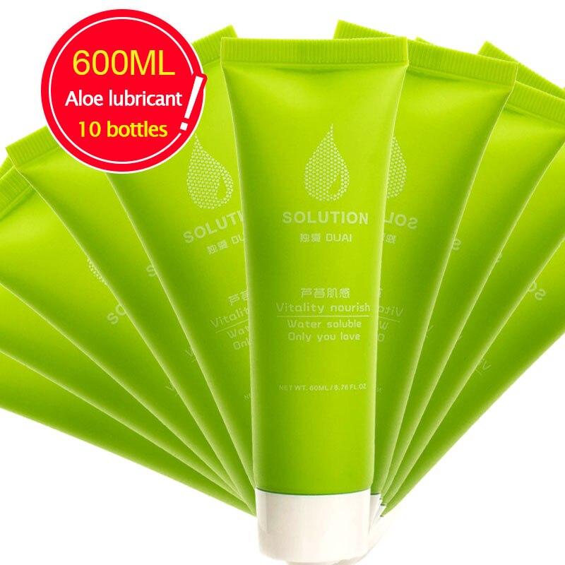 Wholesale 600ML/10Bottles Aloe Water Lubricant Sex Masturbator Lube стоимость