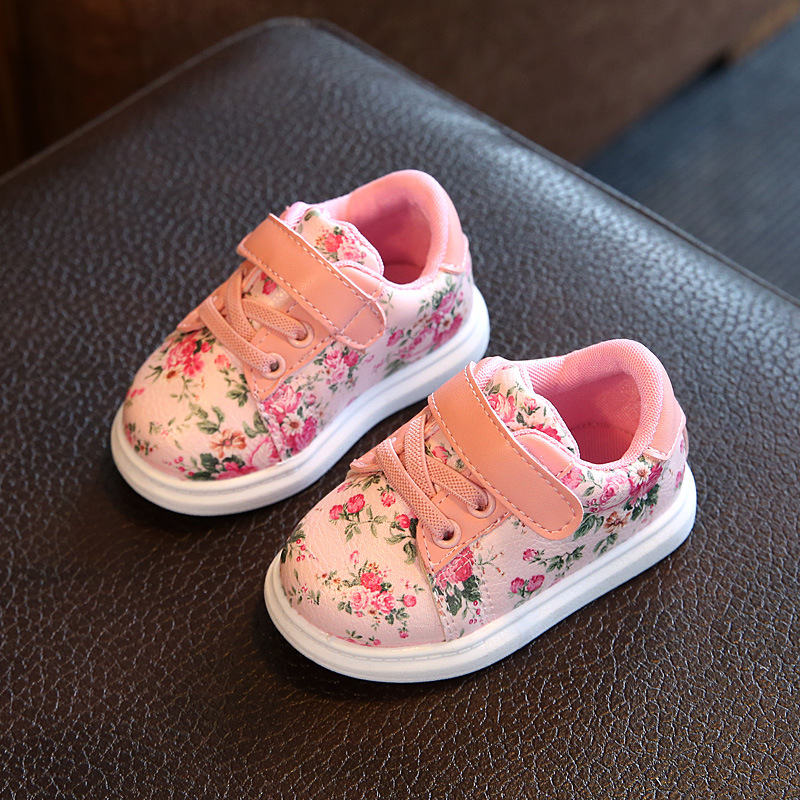 Autumn Small Floral Girls Baby Shoes