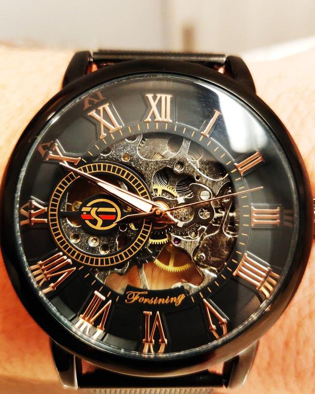 HTB16 sOaRiE3KVjSZFMq6zQhVXaM Forsining Retro Fashion Design Skeleton Sport Mechanical Watch Luminous Hands Transparent Mesh Bracelet For Men Top Brand Luxury