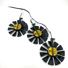 New POWER LOGIC PLD09210S12HH Graphics Replacement Fan or Cable for ASUS STRIX R9 390X 390 RX480 RX580 GTX 980Ti 1060 1070 1080