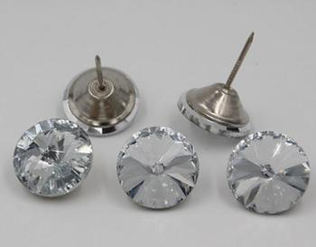 500Pcs Satellite stone Crystal Upholstery Nails Button Tacks Studs Pins Glass Buttons Sofa Wall Decoration Furniture Accessories