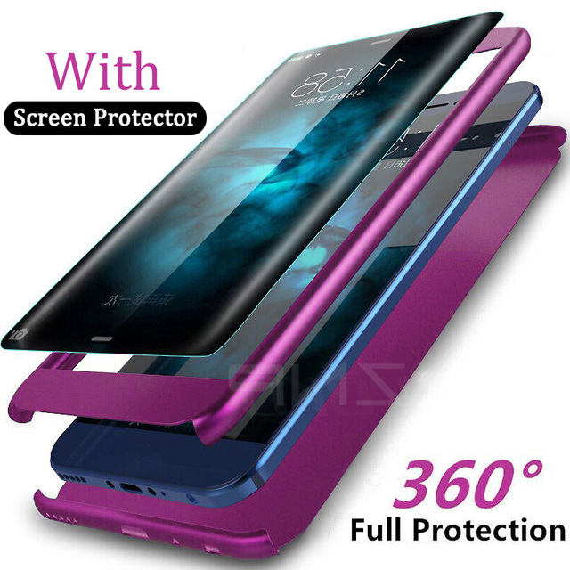 purchase cheap 41200 dbab9 US $2.21 26% OFF ZNP Luxury 360 Degree Shockproof Case For Samsung Galaxy  S9 S8 Plus Full Cover Phone Case For Samsung Note 9 8 S7 Edge S9 Case-in ...