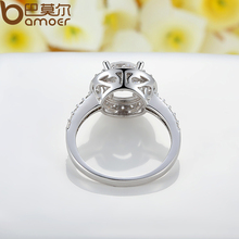 White Gold Color Ring With Carat Zircon