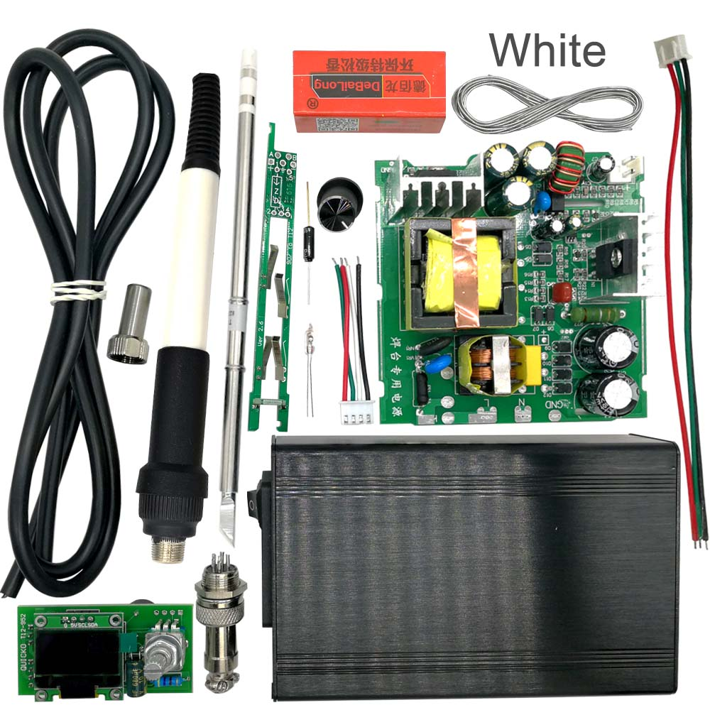 QUICKO STC T12 OLED Digital Estación de soldadura DIY kits controlador de temperatura nueva versión con mango vibración