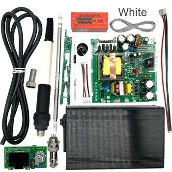 STC T12 OLED الرقمية لحام محطة DIY أطقم متحكم في درجة الحرارة جديد النسخة مع مقبض الاهتزاز التبديل
