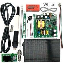 Stc t12 oled 디지털 납땜 스테이션 diy 키트 온도 컨트롤러 핸들 진동 스위치가있는 새 버전