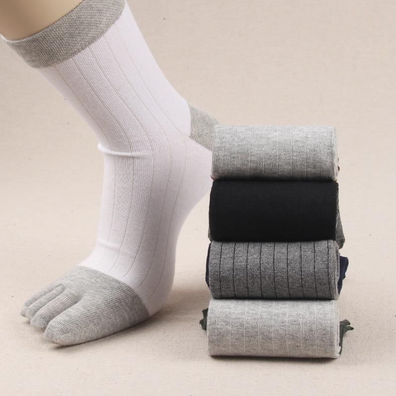 NEW 1 Pair/Lot Breathable Men Five Finger Socks 5 Five Toe Socks Outdor Socks 5 Fingers Brand Casual  Socks Size EUR 39-45