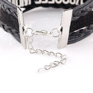 Браслет Litttle Minglou Infinity Love, браслет с котом из мейн-енота, лапа для домашних животных, кожаный браслет, мужские браслеты и браслеты для женщин, украшения