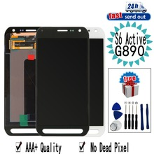AMOLED G890 LCD For SAMSUNG Galaxy S6 Active G890A LCD Display Touch Screen Tested Digitizer Assembly