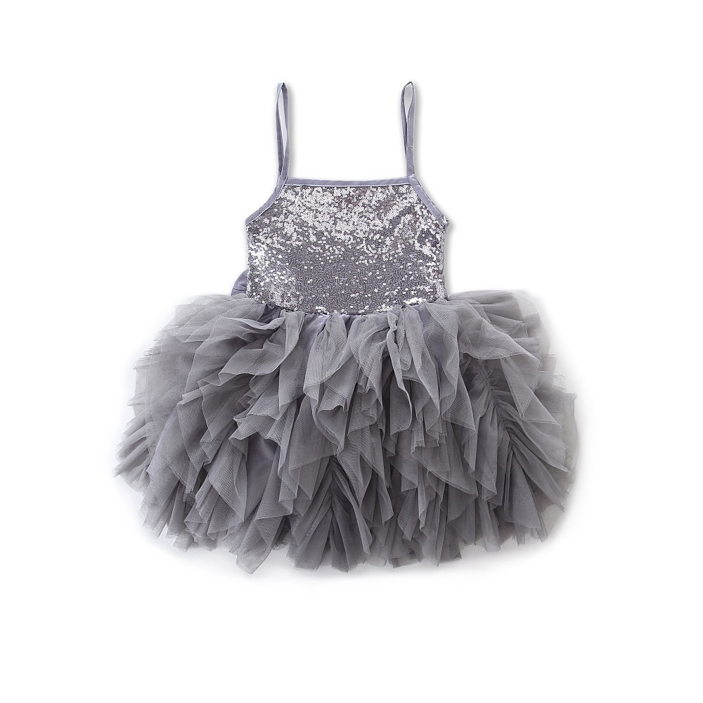 Pudcoco Baby Kids Girls Sukienki Summer Lace Bowknot Cekiny Tulle - Ubrania dziecięce - Zdjęcie 6