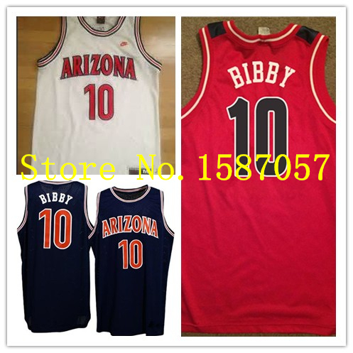 b1ef7914fe3  10 Mike Bibby Arizona Wildcats Basketball Jersey Retro Throwback Mesh or Rev  30 Customized Name and number Stitched jerseys