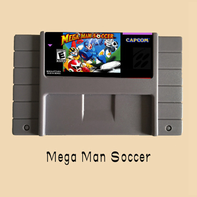 Mega Man Soccer 16 Bit Game Card For USA NTSC Game Player