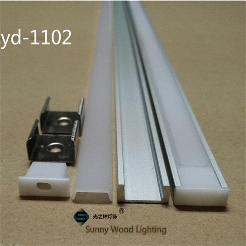 Luzes Led Bar inch/pc perfil de alumínio para Size : L1000xw16xh6mm