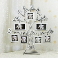 1 Pcs Family Tree Metal Photo Frame Lovely Creative Gift DIY Picture Frame Wedding Home Decor
