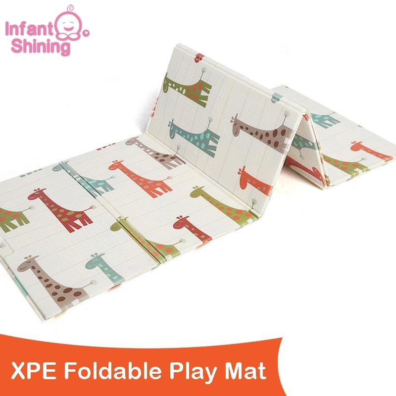 XPE Baby Play Mat Qatlanabilən 1CM Qalınlığı Uşaqlar Döşəmə - Körpələr üçün oyuncaqlar