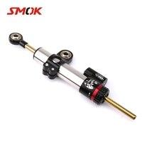 SMOK Universal Motorcycle Adjustable Steering Damper Stabilizer For KTM Duke 200 Suzuki GSXR 600 Honda CBR 600 F4i GSR 750 ZX10R