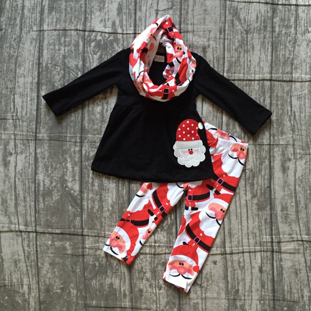 baby girls 3 pieces with scarf sets girls Christmas Santa Claus applique black top with long pant outfits Christmas party outfit sanrex type thyristor module dfa200aa160 page 4 page 2 page 4 page 1