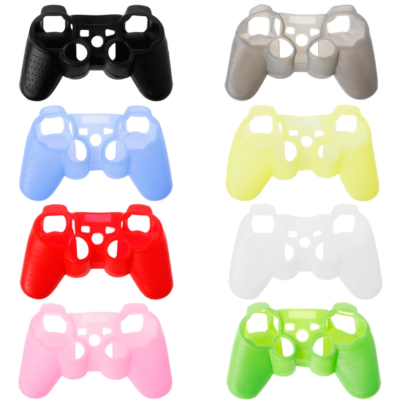 For Sony Playstation 3 Controller Silicone Case Protective Skin Cover Wrap Case for PS3 Controller Joystick Gel Rubber for PS3 image