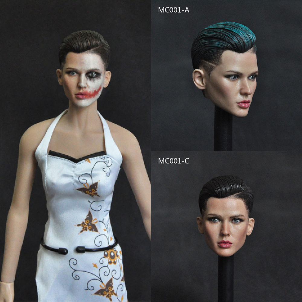 Collectible 1 6 Scale Female Head Sculpt Neutral Handsome Extreme Agent Ruby Rose Head Carved Model