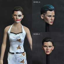 Collectible 1/6 Scale Female Head Sculpt Neutral Handsome Extreme Agent Ruby Rose Head Carved Model for 12'' Action Figure
