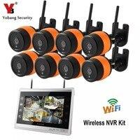11 Inch Monitor 960P 8CH HD Wireless WIFI NVR Kit Outdoor IR Night Vision IP Wifi