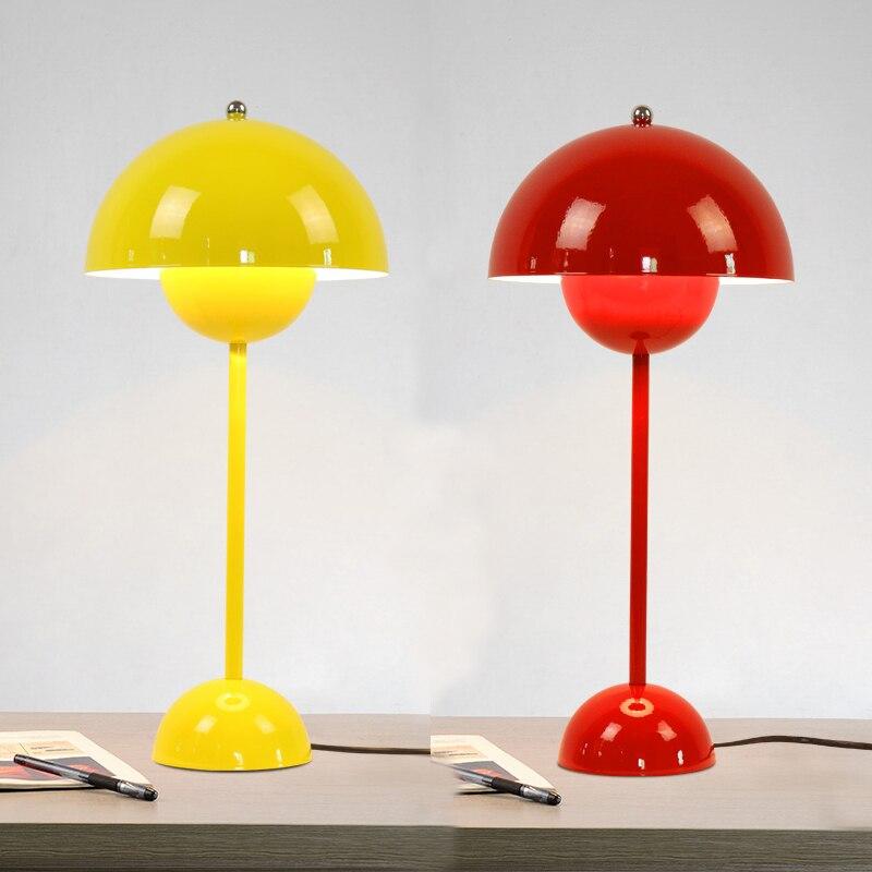 Утюг hat настольные лампы личность гостиная столовая исследование Клуб домашнего освещения красный синий желтый один стол свет FG416