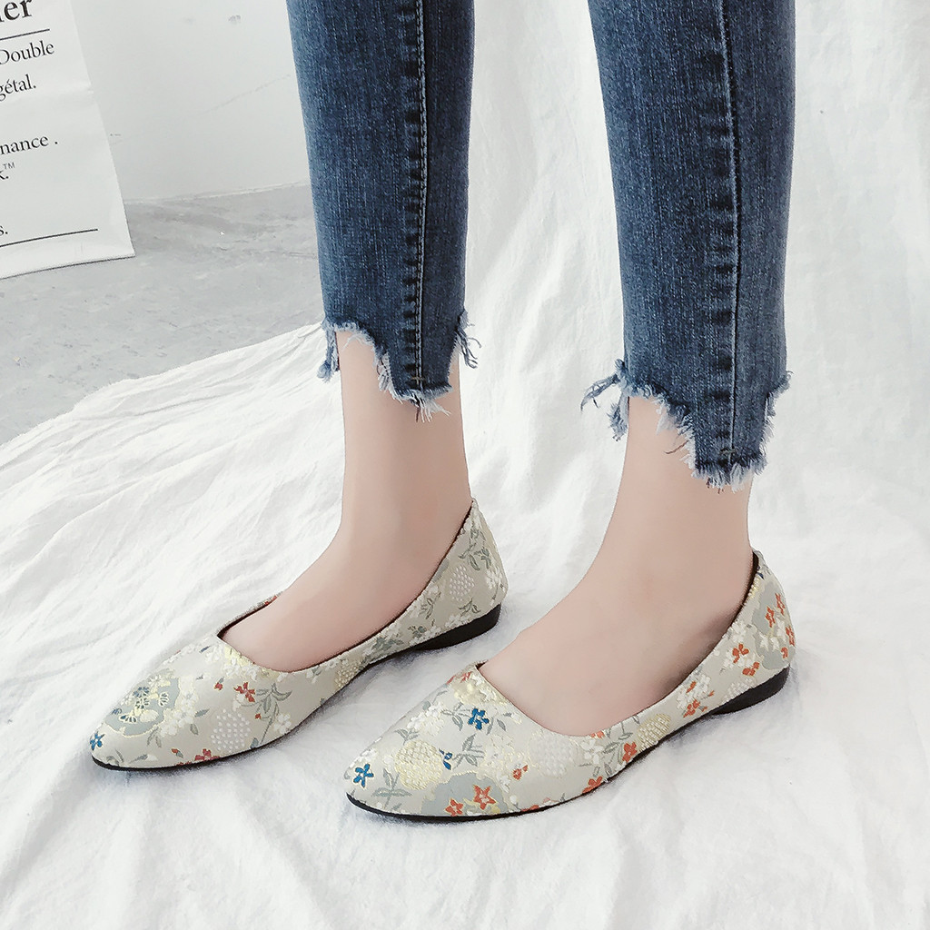 Spring Summer Loafers Women Slip On Flat With Casual Canvas Shoes 2019 Designers Lazy Flats Shoes Woman Pregnant #3