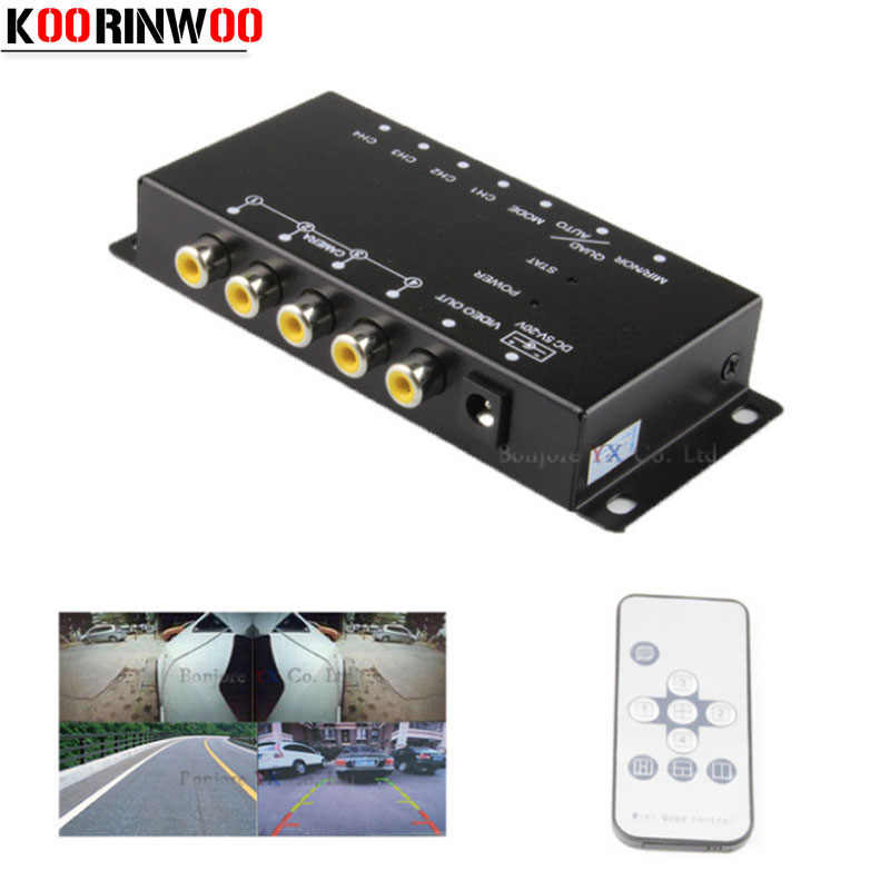koorinwoo control ir for parking cameras switch image combiner box for view  left right view front