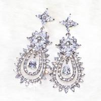 The goddess Earrings earring for beautiful womoan Pure handicraft skills Flashing charming AAA zircon,138 stone grain ALW1868