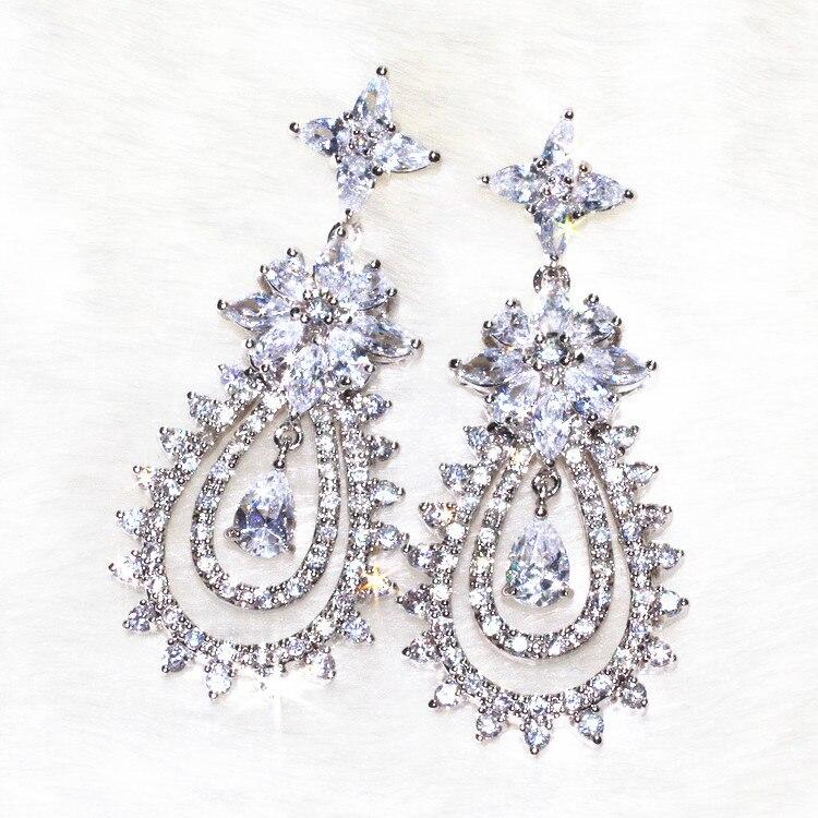 la dea orecchini orecchino per la bella womoan artigianato puro competenze lampeggiante di charme aaa zircone , 138 pietra a grana ALW1868