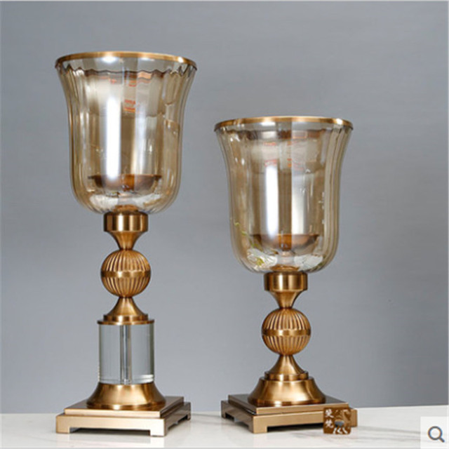 Wedding Table Candle Holders Candlestick Lamp Metal Lantern Candle Holder  Decorative Candles Wedding Candlestick QQX364
